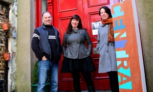 Don Wycherley, director, with Central Arts' Ciara O'Connell and writer Gillian Grattan.