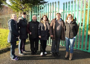Pictured outside the Ballybeg Youth Resource Centre, Waterford which was gutted by a suspected arson attack were staff members and volunteers, from left: Ciara Jacob (Community Youth Worker), Sabrina Earle, Jimmy and Trish Ronan, Eoin O'Neill (Regional Director) and Jen Hannon (Community Youth Worker).