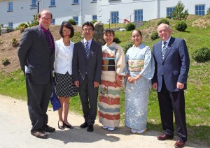 Pictured at the opening of the Lafcadio Hearn Garden opening in Tramore on Friday last were from left, Professor Rodger Williamson (University of Kitakyushu), Shoko Koizumi, Bon Koizumi (great grandson of Lafcadio Hearn), Sonomi Leslie, Michiko Masuda and Donal Sheerin (Tramore Development Trust). See News 26 and 27 for further photographic coverage.