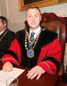 Newly elected Mayor of the Waterford Metropolitan District Cllr Eamon Quinlan