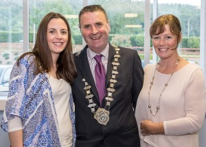 Newly Elected Chairman of the Comeragh District Cllr Liam Brazil with his Wife Marie and Daughter Fiona.