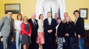 Mayor Eamon Quinlan pictured with the directors and committee of the Tramore Promenade Festival.