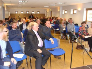 Some of the audience members who attended the drugs information event at Farronshoneen last Thursday.