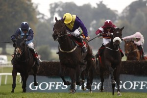 Cailin Annamh (Barry Geraghty, left) pounces to beat Alelchi Inois in the PWC Champion Chase Gowran Park