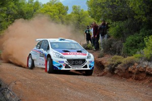 Craig Breen competing on the Rally Acropolis last weekend