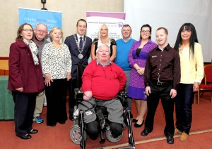 Mayor John Cummins pictured at the WDN Employability Conference, 'A Disability Perspective' at Dooley's Hotel with John McDonald (Chairperson, WDN), Theresa O'Brien, Michael White, Gabriel O'Rourke, Jo Cregan, Brendan Madders, Ann Marie Cahill-Byrne, Brian McSweeney and Bernadette O'Hanlon.