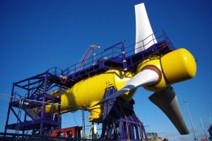 The way of the future: a tidal steam turbine.