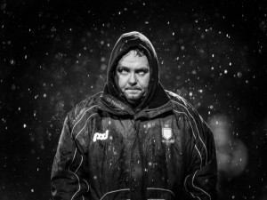 A startling John Kelly photograph of former Waterford hurling manager, Davy Fitzgerald.