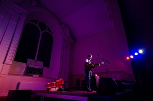 Martin Simpson playing in concert at St Patrick's Gateway Centre playing to a capacity audience during the 2015 Imagine Festival.