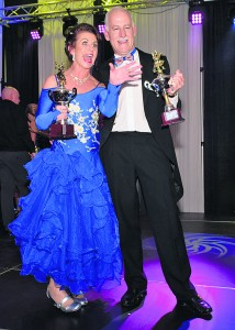 'Piltown Does Strictly' winners Paula O'Dwyer and James Coleman, pictured after receiving their trophies at the Lyrath Hotel Conference Centre on Saturday evening last. See next week's edition for more shots.