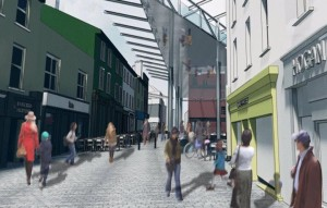 The roofing of the Apple Market will form part of the agreed Urban Renewal Plan.