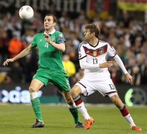 Ferrybank's John O'Shea, pictured in action during Ireland's Euro 2016 win over Germany.
