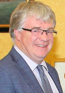 Steady as you go: City & County Council Chief Executive Michael Walsh.