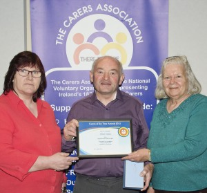 Ann McCarthy, William Coleman (Waterford Carer of the Year 2015) and Stella Mackey.