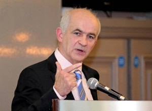 IFA President Eddie Downey, speaking at last Thursday's IFA Anniversary Banquet at Lawlor's Hotel.