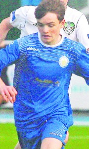 Blues U17 striker Eoin Porter celebrates after scoring the winner against Cabinteely