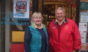 Retiring: Angela and Bobby Sheridan of Tramore's Arch Newsagents.