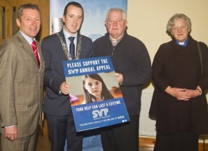 Pictured at the launch of the Saint Vincent de Paul Annual Appeal (which runs from November 26th to 29th) were, from left: Michael Curran (Waterford VdeP President), City & County Mayor John Cummins, Monsignor Nicholas O'Mahony PP and Dean Maria Jansson of ChristChurch.