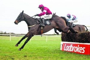 Sir Des Champs (Bryan Cooper) makes a winning return in the 2m 6f listed chase after a 691 day absence Thurles