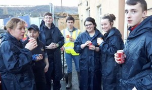 From left: Jackie Brazil, Catherine Foley, Ethan Devereau, David O'Brien, Ashling Dunphy, Kerri-ann Whelan and Freddie Doyle, who've assisted flood-affected residents in Carrick-on-Suir.