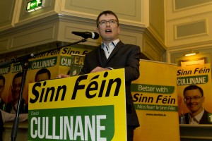 Senator David Cullinane addressing a packed Granville Hotel function room at the launch of his general election campaign on Friday last