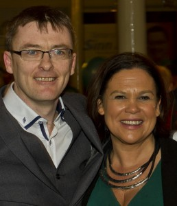Senator Cullinane pictured with Sinn Féin Deputy Leader Mary Lou MacDonald TD.
