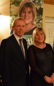 Cllr Mary Butler, pictured with Fianna Fáil's Vice President at her general election campaign launch at Micilín's, Kilrossanty, on Saturday evening last.