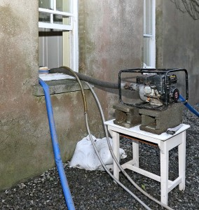A pump at work at The Manse, Portlaw