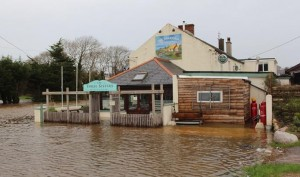 The Three Sisters Restaurant in Woodstown, which was flooded during Storm Frank last Wednesday.