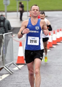 Waterford AC's Frank Quinlan finished in fourth place in last Saturday's Waterford AC Half-Marathon