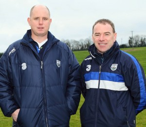 Pleased: Deise senior football manager Tom McGlinchey and selector Tony Corcoran.  				| Photos: Noel Browne