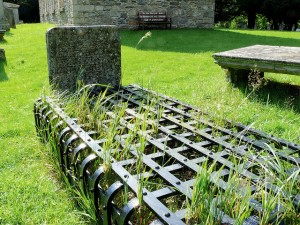 An example of a 19th Century graveyard 'mortsafe'. If you know of one in your area, please contact your local archaeological society as they are attempting to create a national register.