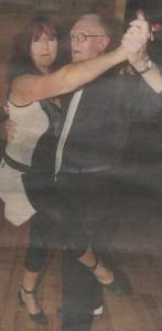 Jim with dance partner Clary Mastenbroek from Kilmeaden.