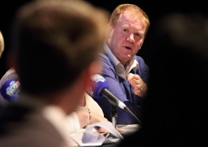 Minister Paudie Coffey and Senator David Cullinane (foreground) who took issue with Cllr Mary Butler's stance on WIT's future during the WLRfm debate at Garter Lane.  | Photos: Noel Browne
