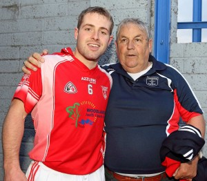 Noel pictured with John Carey following Passage's historic County SHC victory in 2013