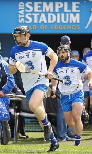 Noel following Kevin Moran out of the tunnel prior to last year's National Hurling League Final.