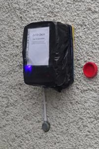The public access defibrillator in Portlaw which is currently out of order.