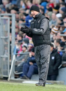 Kilkenny manager Brian Cody urging on his charges in Sunday's Division 1A clash.