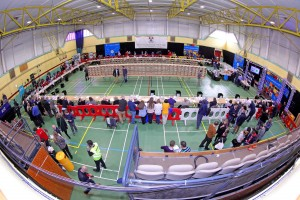 The WIT sports Hall proved an excellent venue for last Saturday's General Election count.
