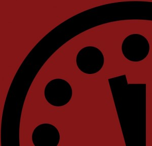 The Doomsday Clock: just three minutes from midnight.