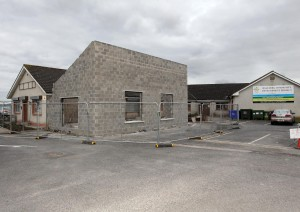 "The new Youth Café at the Ballybeg CDP, currently under construction, the funding of which took several years to raise. ""But right now we don't have the money to dress it,"" said Liz Rockett."