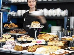 Set for extension: the café at the House of Waterford Crystal.