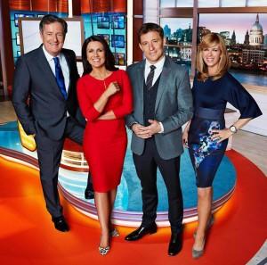 'Good Morning Britain' presenters Piers Morgan, Susanna Reid, Ben Shephard and Kate Garraway.