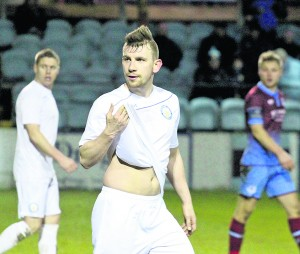 : Blues mid field player James O'Brien was in the heart of things for the Blues against Drogheda United
