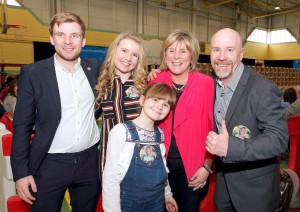 Incoming TD Mary Butler pictured with her family, husband Mick, son Jack and daughters, Jenna and Jane. | Photography: Noel Browne.