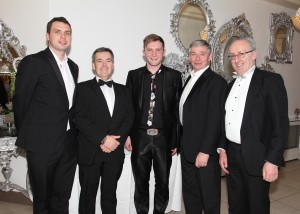 From left: Kieran Foley (The Munster Express), Nicky McGrath (NFRN), Aidan Murphy (Magician), Peter McNally (Daybreak, Tramore) and Kieran Walsh (MD, The Munster Express).