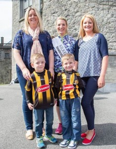 Michelle and Tommy Long with Claire and Darragh Cahill pictured with Kilkenny Rose Claire Walshe.