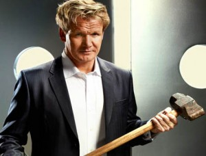 Gordon Ramsay: a hard man to please in the kitchen.