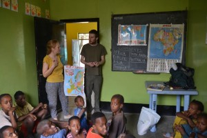 Youth Release volunteers in an Ethiopian classroom.