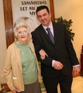 Breda Walsh, founding member, Samaritans, Waterford and Anthony Hamilton, Director, Waterford & SE Branch.